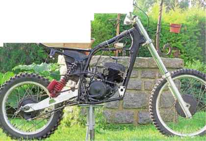 Wrecked Dirt Bike