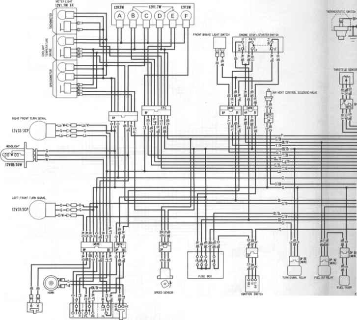 Wiring Diagrams - Honda Cbr 600 1995-1996