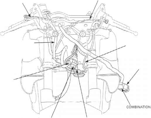 cable harness routing - honda cbr 600 f4i