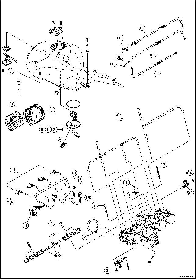 Kawasaki Z750 Parts Diagrams