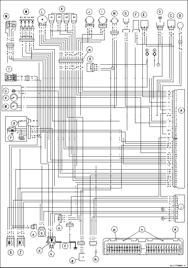 1823_58_79 z750 wiring diagram fuel system dfi kawasaki z750 kappa motorbikes kawasaki z750 wiring diagram at creativeand.co