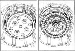 Disassemble Suzuki Bandit Clutch Plates