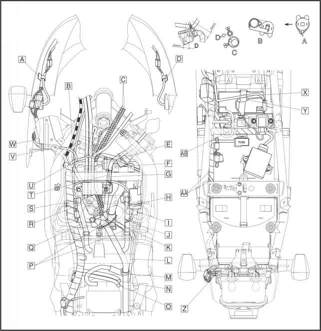 Water Relay Diagram as well Cable Routing moreover Manual Auto Clutch Diagrams furthermore 13 Pin Trailer Plug Wiring Diagram Furthermore 7 also  on wiring diagram yamaha fazer 1000