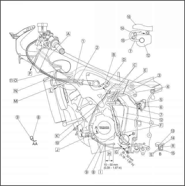 cable routing - yamaha r6