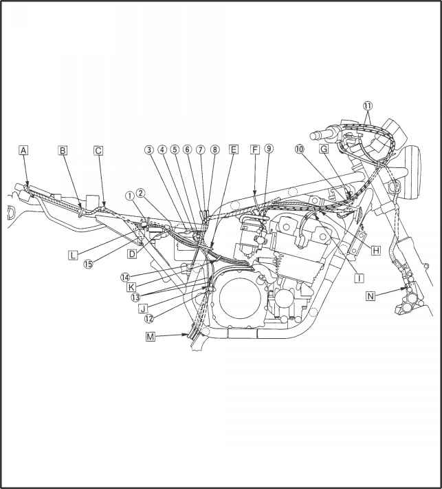 lubrication diagrams - yamaha xjr 1300